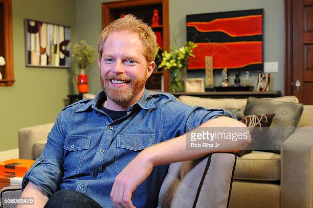 Actor Jesse Tyler Ferguson on the set of ABC's Modern Family February 19 2010 in Los Angeles California