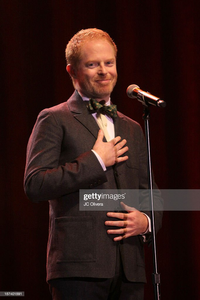 Actor <a gi-track='captionPersonalityLinkClicked' href=/galleries/search?phrase=Jesse+Tyler+Ferguson&family=editorial&specificpeople=633114 ng-click='$event.stopPropagation()'>Jesse Tyler Ferguson</a> onstage at 'Trevor Live' honoring Katy Perry and Audi of America for The Trevor Project held at The Hollywood Palladium on December 2, 2012 in Los Angeles, California.