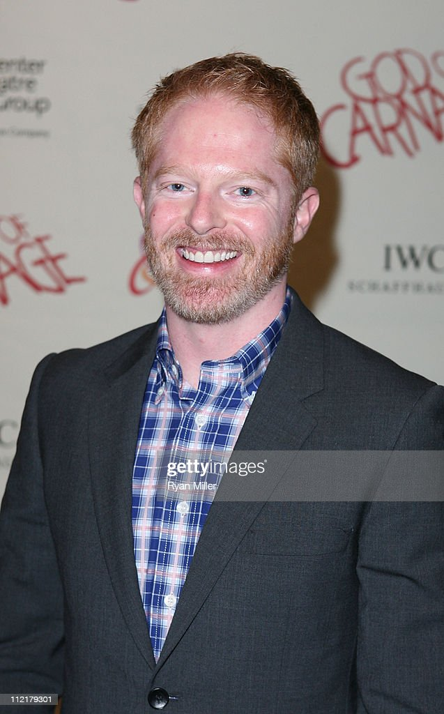Actor Jesse Tyler Ferguson poses during the arrivals for the opening night performance of 'God of Carnage' at Center Theatre Group's Ahmanson Theatre on April 13, 2011 in Los Angeles, California.