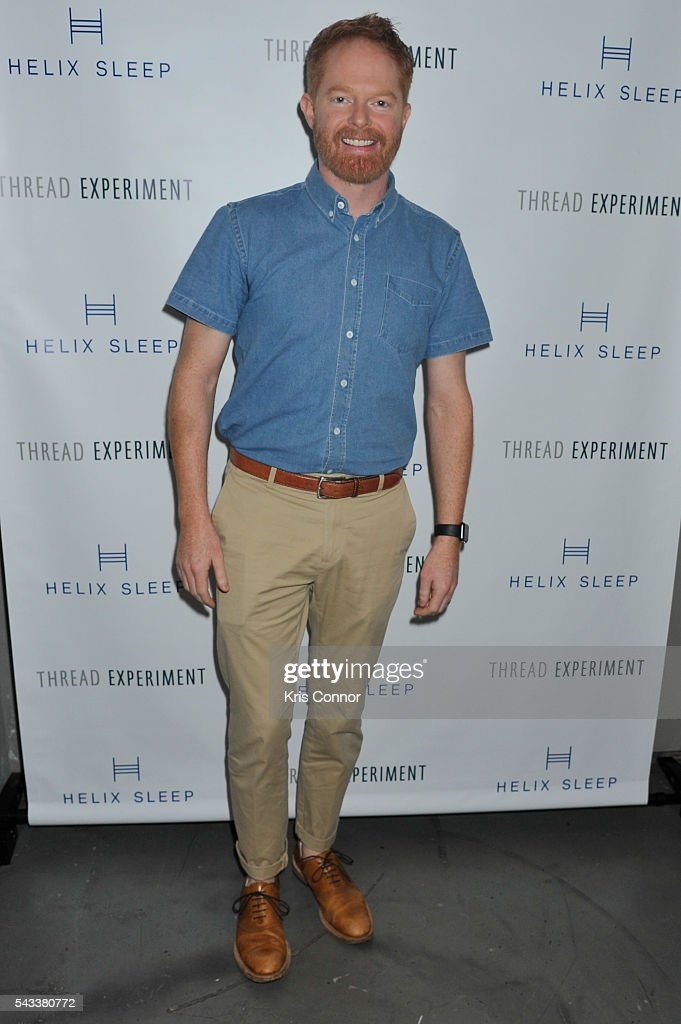 Actor <a gi-track='captionPersonalityLinkClicked' href=/galleries/search?phrase=Jesse+Tyler+Ferguson&family=editorial&specificpeople=633114 ng-click='$event.stopPropagation()'>Jesse Tyler Ferguson</a> poses during the 'Let's Get Under The Covers: An Evening Of Cocktails And Change' event at Hotel Americano on June 27, 2016 in New York City.