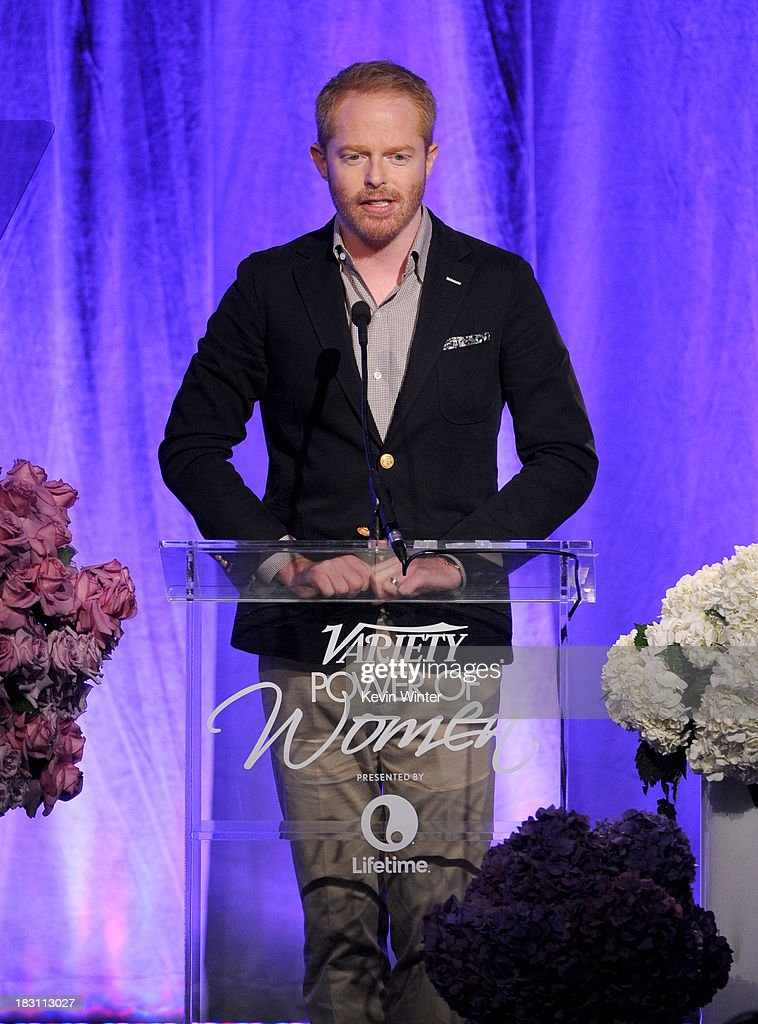Actor <a gi-track='captionPersonalityLinkClicked' href=/galleries/search?phrase=Jesse+Tyler+Ferguson&family=editorial&specificpeople=633114 ng-click='$event.stopPropagation()'>Jesse Tyler Ferguson</a> speaks onstage during Variety's 5th Annual Power of Women event presented by Lifetime at the Beverly Wilshire Four Seasons Hotel on October 4, 2013 in Beverly Hills, California.