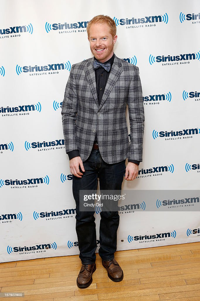 Actor <a gi-track='captionPersonalityLinkClicked' href=/galleries/search?phrase=Jesse+Tyler+Ferguson&family=editorial&specificpeople=633114 ng-click='$event.stopPropagation()'>Jesse Tyler Ferguson</a> visits the SiriusXM Studios on December 7, 2012 in New York City.