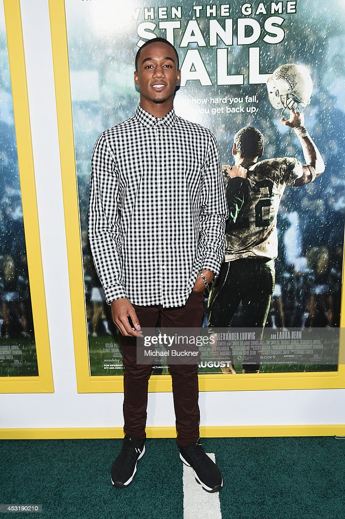 Actor Jesse Usher arrives at the premire of Tri Star Pictures' ' When The Game Stands Tall' at the ArcLight Cinemas on August 4, 2014 in Hollywood, California.