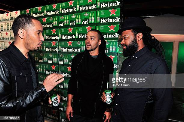 Actor Jesse Wiliams and Coltrane Curtis attend the Heineken Star Bottle Launch Dinner on March 15 2013 in Los Angeles California