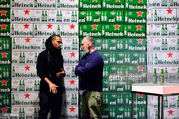 Actor Jesse Williams and cofounder of Undefeated James Bond attend the Heineken Star Bottle Launch Dinner on March 15 2013 in Los Angeles California