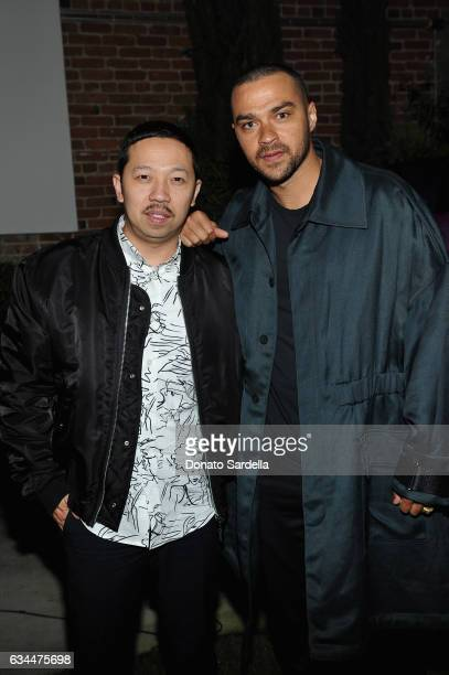 Actor Jesse Williams and designer Humberto Leon attend the Premiere of KENZO Presents 'Music Is My Mistress' a film by Kahlil Joseph at The...
