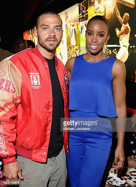 Actor Jesse Williams and Singer Kelly Rowland attend ESPN The Magazine's 'NEXT' Event at Tad Gormley Stadium on February 1 2013 in New Orleans...