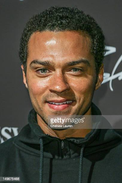 Actor Jesse Williams arrives at Hennessy's unveiling of a limited edition bottle designed by street artist Futura at Milk Studios on August 1 2012 in...