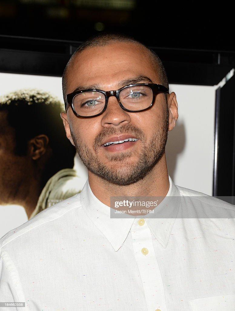 Actor <a gi-track='captionPersonalityLinkClicked' href=/galleries/search?phrase=Jesse+Williams+-+Actor&family=editorial&specificpeople=7189838 ng-click='$event.stopPropagation()'>Jesse Williams</a> arrives at the Los Angeles premiere of '12 Years A Slave' at Directors Guild Of America on October 14, 2013 in Los Angeles, California.