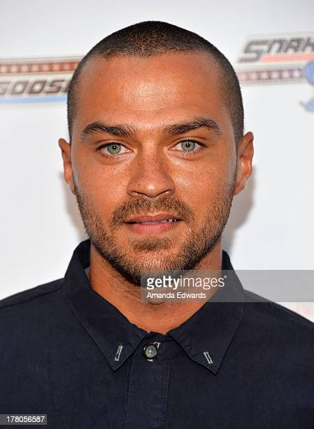 Actor Jesse Williams arrives at the premiere of 'Snake Mongoo$e' at the Egyptian Theatre on August 26 2013 in Hollywood California