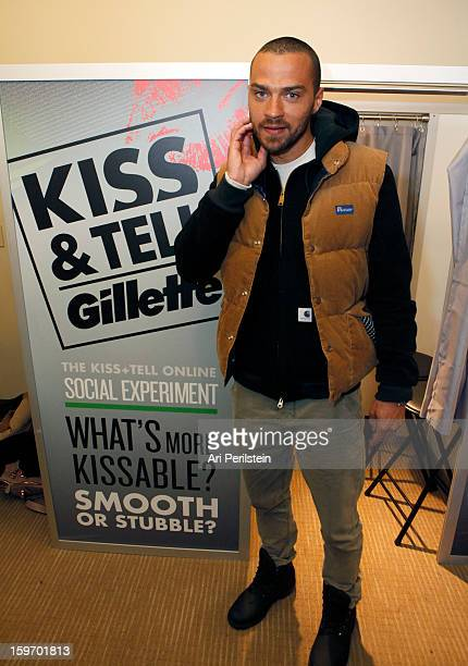 Actor Jesse Williams attends Day 1 of Gillette Ask Couples at Sundance to 'Kiss Tell' if They Prefer Stubble or Smooth Shaven on January 18 2013 in...
