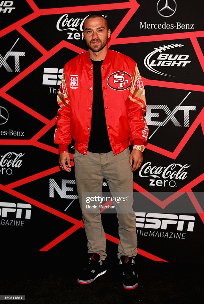 Actor <a gi-track='captionPersonalityLinkClicked' href=/galleries/search?phrase=Jesse+Williams+-+Actor&family=editorial&specificpeople=7189838 ng-click='$event.stopPropagation()'>Jesse Williams</a> attends ESPN The Magazine's 'NEXT' Event at Tad Gormley Stadium on February 1, 2013 in New Orleans, Louisiana.
