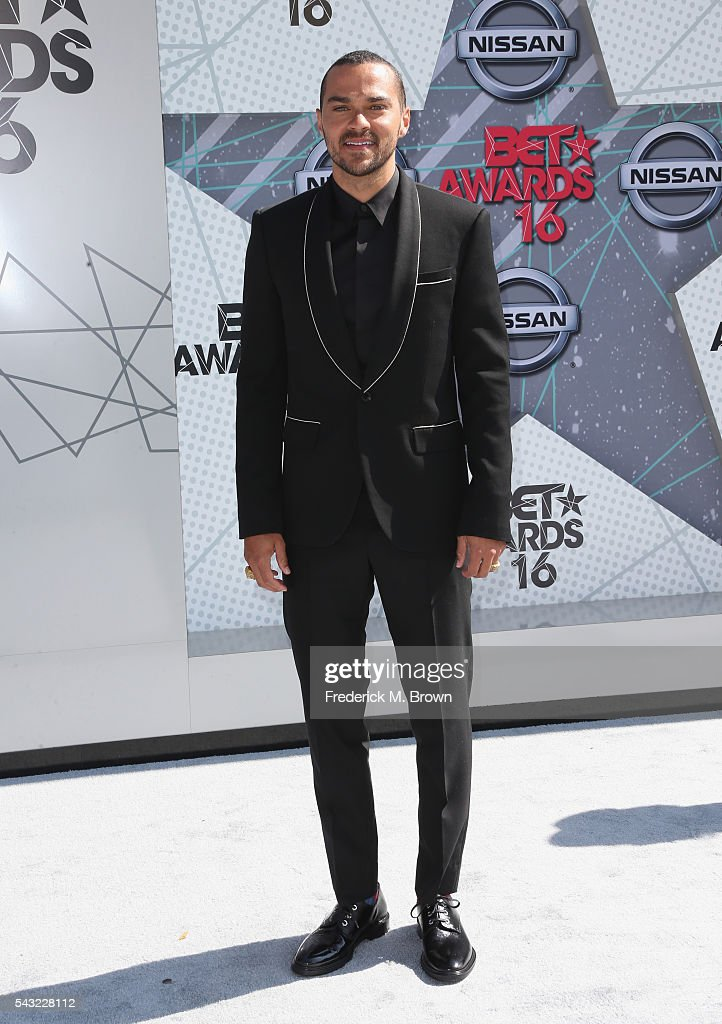 Actor <a gi-track='captionPersonalityLinkClicked' href=/galleries/search?phrase=Jesse+Williams+-+Actor&family=editorial&specificpeople=7189838 ng-click='$event.stopPropagation()'>Jesse Williams</a> attends the 2016 BET Awards at the Microsoft Theater on June 26, 2016 in Los Angeles, California.