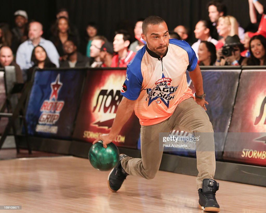 Actor <a gi-track='captionPersonalityLinkClicked' href=/galleries/search?phrase=Jesse+Williams+-+Actor&family=editorial&specificpeople=7189838 ng-click='$event.stopPropagation()'>Jesse Williams</a> attends the 5th annual Chris Paul PBA All-Stars charity tournament at Lucky Strike Lanes at L.A. Live on January 7, 2013 in Los Angeles, California.