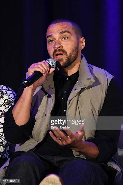 Actor Jesse Williams attends the Amnesty International USA's 50th annual gathering at New York Marriott Brooklyn Bridge on March 21 2015 in New York...