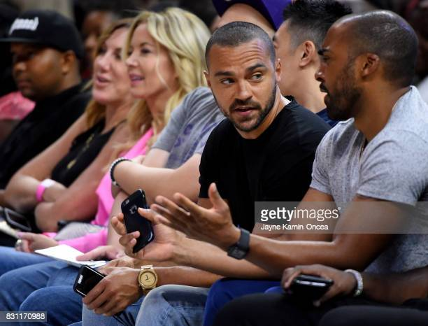 Actor Jesse Williams attends the BIG3 at Staples Center on August 13 2017 in Los Angeles California