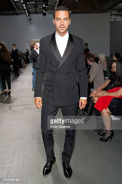 Actor Jesse Williams attends the Givenchy Menswear Spring/Summer 2013 show as part of Paris Fashion Week on June 29 2012 in Paris France