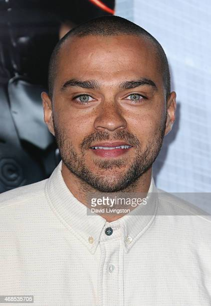 Actor Jesse Williams attends the premiere of Columbia Pictures' 'Robocop' at the TCL Chinese Theatre on February 10 2014 in Hollywood California