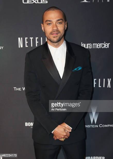 Actor Jesse Williams attends The Weinstein Company Netflix's 2014 Golden Globes After Party presented by Bombardier FIJI Water Lexus Laura Mercier...