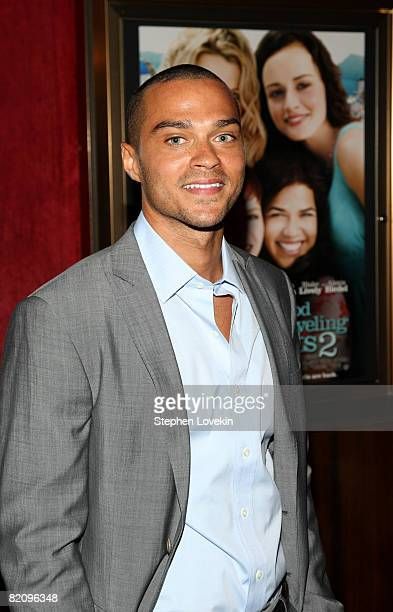 Actor Jesse Williams attends the world premiere of 'The Sisterhood Of The Traveling Pants 2' presented by Warner Bros Pictures at the Ziegfeld...