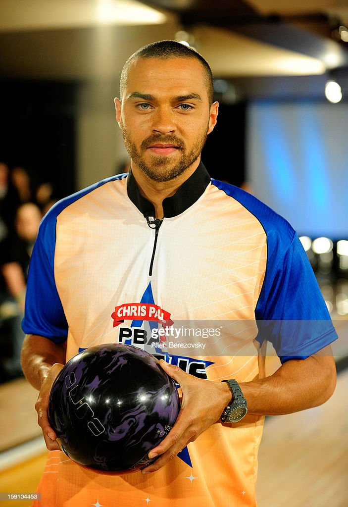 Actor <a gi-track='captionPersonalityLinkClicked' href=/galleries/search?phrase=Jesse+Williams+-+Actor&family=editorial&specificpeople=7189838 ng-click='$event.stopPropagation()'>Jesse Williams</a> bowls at the 5th annual Chris Paul PBA All-Stars Invitational hosted by LA Clippers star guard Chris Paul at Lucky Strike Lanes at L.A. Live on January 7, 2013 in Los Angeles, California.