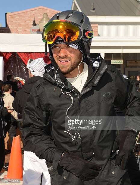Actor Jesse Williams snowboards at the Oakley Learn To Ride In Collaboration With New Era on January 19 2013 in Park City Utah