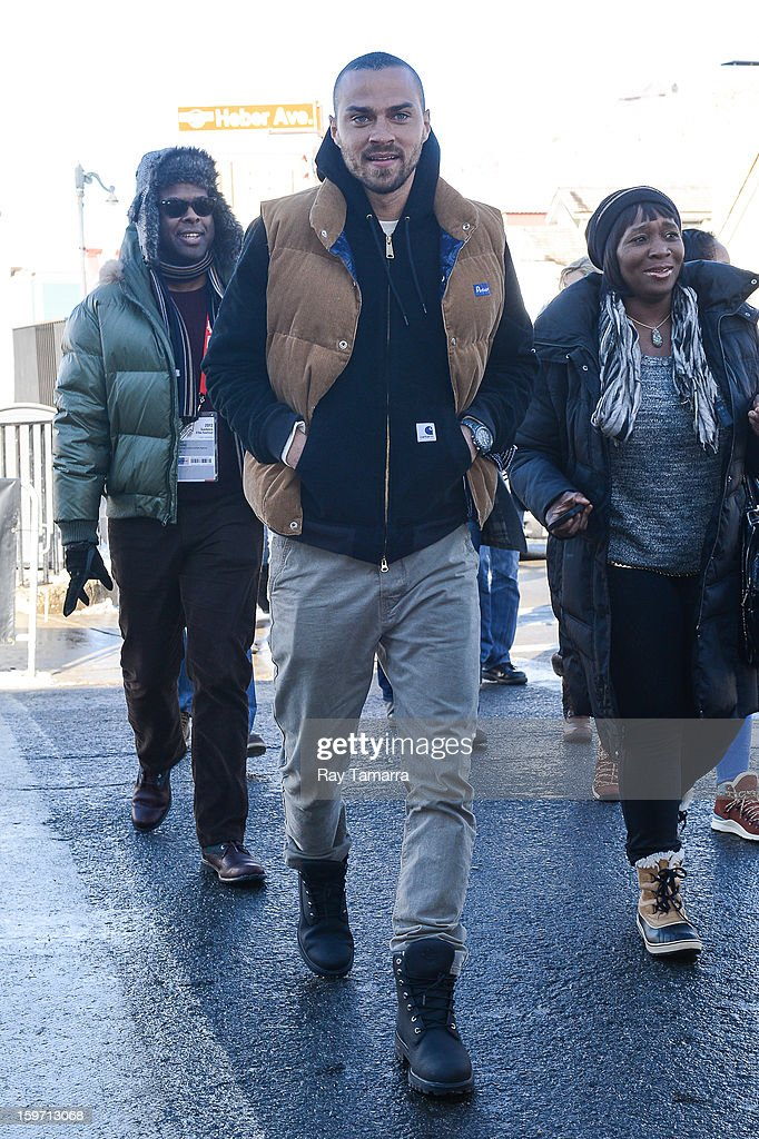 Actor Jesse Williams walks in Park City on January 18, 2013 in Park City, Utah.