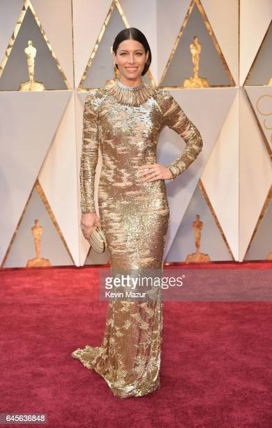 Actor Jessica Biel attends the 89th Annual Academy Awards at Hollywood Highland Center on February 26 2017 in Hollywood California