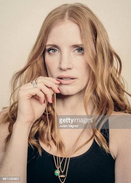 Actor Jessica Chastain is photographed for Grazia magazine on May 18 2017 in Cannes France Published Image