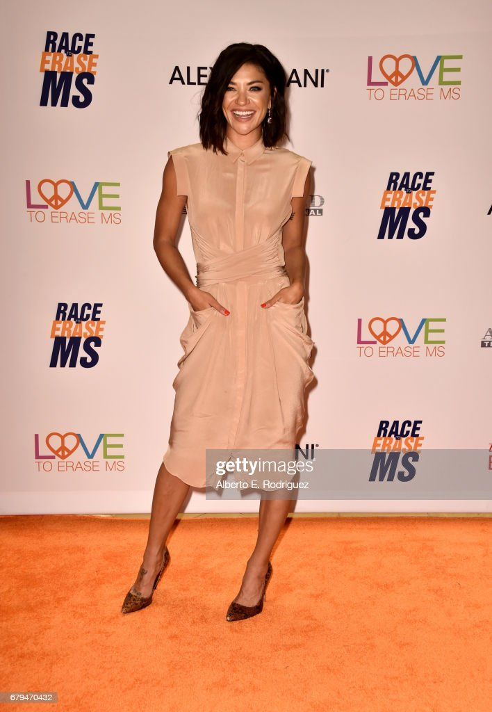 Actor Jessica Szohr attends the 24th Annual Race To Erase MS Gala at The Beverly Hilton Hotel on May 5, 2017 in Beverly Hills, California.