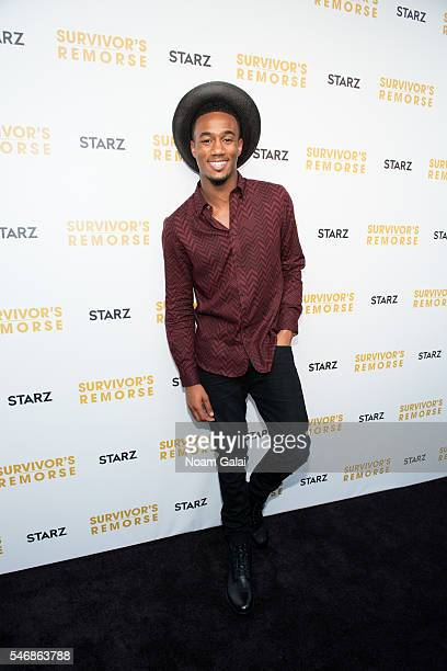 Actor Jessie T Usher attends 'Survivor's Remorse' New York screening at Roxy Hotel on July 12 2016 in New York City