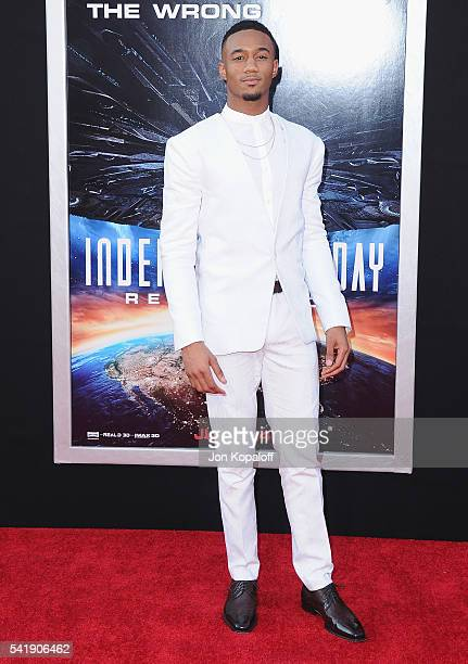 Actor Jessie Usher arrives at the Los Angeles Premiere 'Independence Day Resurgence' at TCL Chinese Theatre on June 20 2016 in Hollywood California