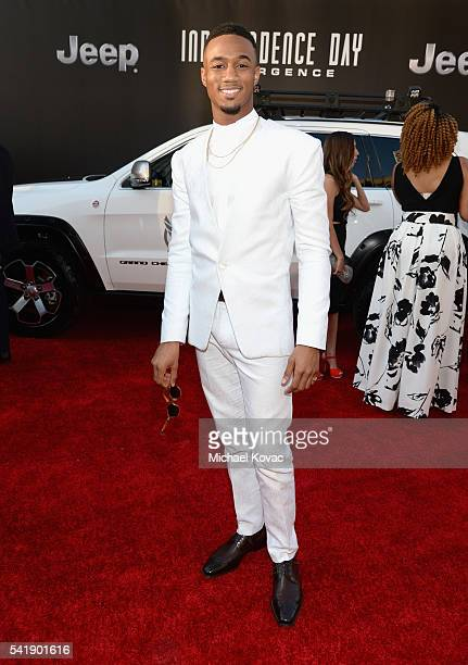 Actor Jessie Usher attends the 'Independence Day Resurgence' premiere sponsored by Jeep at TCL Chinese Theatre on June 20 2016 in Hollywood California