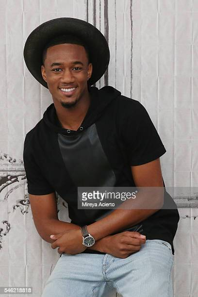 Actor Jessie Usher from the cast of 'Survivor's Remorse' speaks during AOL Build Speaker Series at AOL HQ on July 11 2016 in New York City