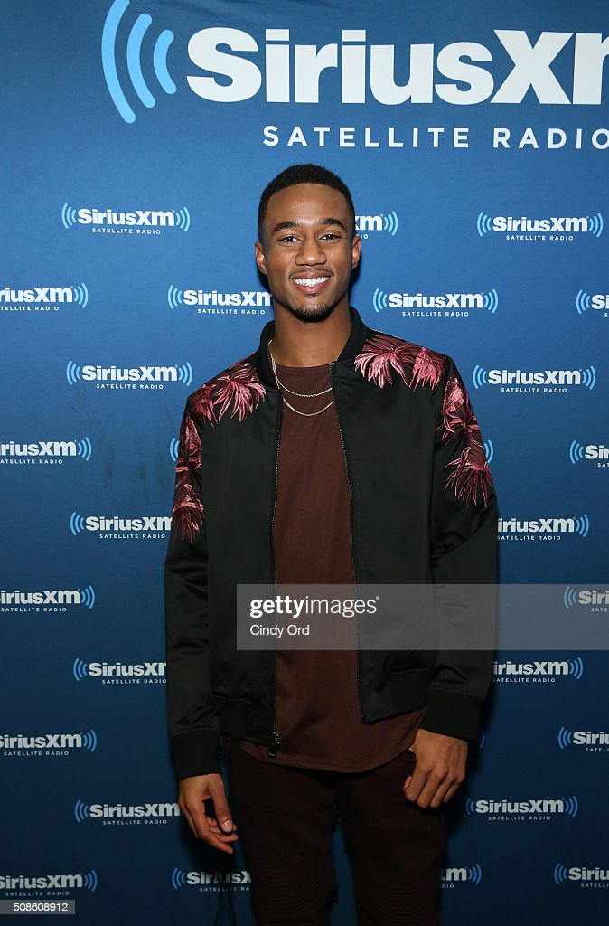 Actor Jessie Usher visits the SiriusXM set at Super Bowl 50 Radio Row at the Moscone Center on February 5, 2016 in San Francisco, California.