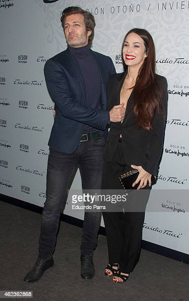 Actor Jesus Olmedo and actress Nerea Garmendia attend Emidio Tucci fashion show photocall at Price circus on January 27 2015 in Madrid Spain