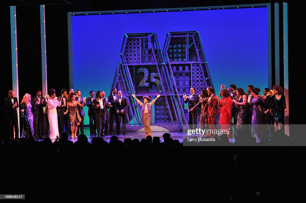 Actor Jibreel Mawry bows onstage at 'Motown: The Musical' Opening Night at Lunt-Fontanne Theatre on April 14, 2013 in New York City.