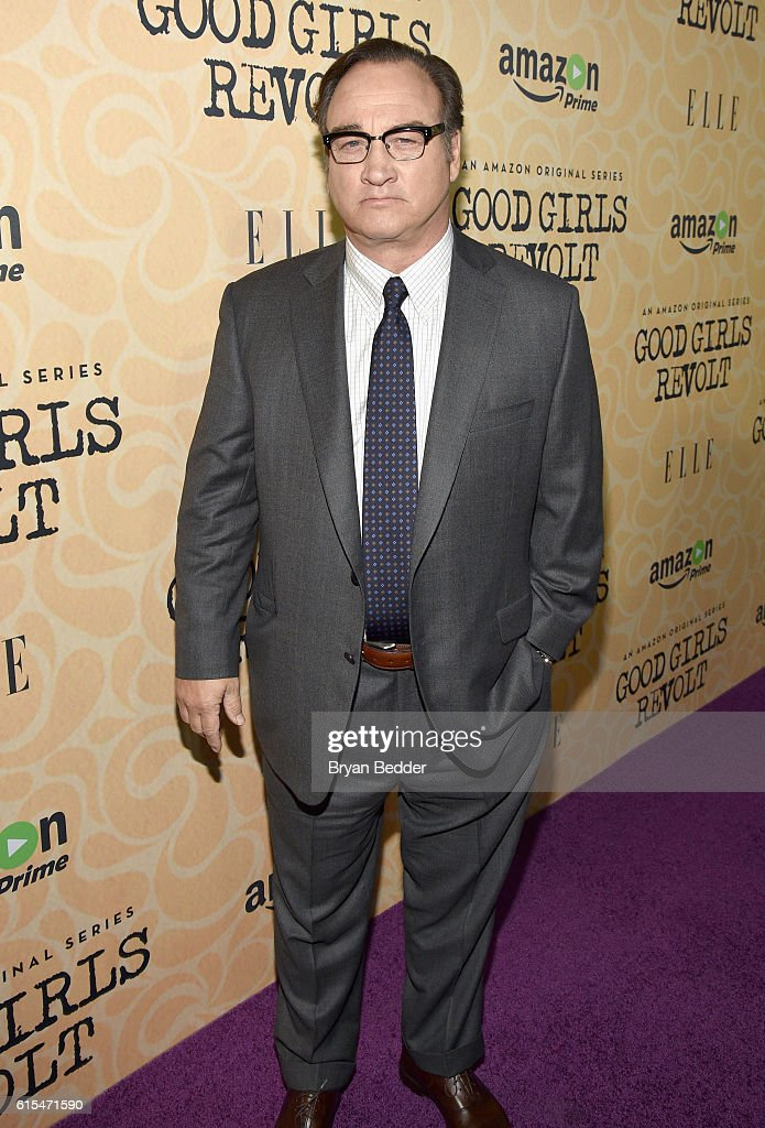 Actor Jim Belushi attends the Amazon red carpet premiere screening of the original drama series Good Girls Revolt at Hearst Tower on October 18, 2016 in New York City.