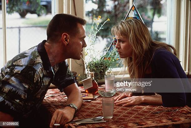 Actor Jim Carrey And Actress Renee Zellweger Act On The Set Of The Movie 'Me Myself Irene' Due Out In The Summer Of 2000