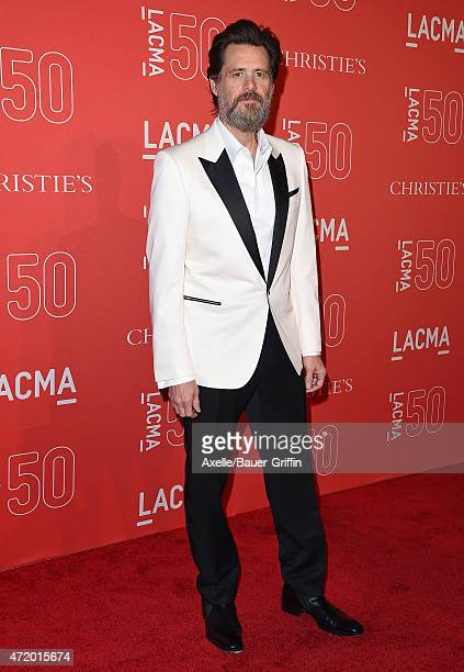 Actor Jim Carrey arrives at LACMA's 50th Anniversary Gala at LACMA on April 18 2015 in Los Angeles California