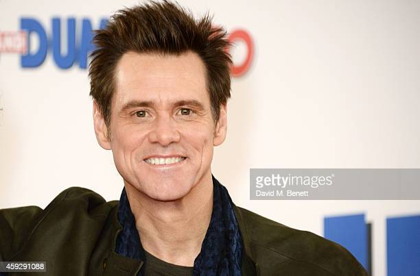Actor Jim Carrey attends a photocall for 'Dumb and Dumber To' on November 20 2014 in London England