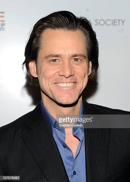 Actor Jim Carrey attends a special screening of 'I Love You Phillip Morris' hosted by The Cinema Society and DeLeon Tequila at the School of Visual...