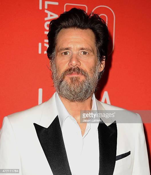 Actor Jim Carrey attends LACMA's 50th anniversary gala at LACMA on April 18 2015 in Los Angeles California