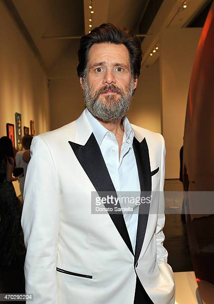 Actor Jim Carrey attends LACMA's 50th Anniversary Gala sponsored by Christie's at LACMA on April 18 2015 in Los Angeles California