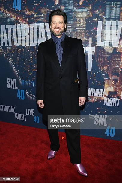 Actor Jim Carrey attends SNL 40th Anniversary Celebration at Rockefeller Plaza on February 15 2015 in New York City
