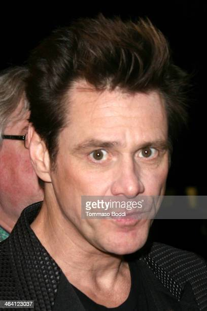 Actor Jim Carrey attends the David Lynch Foundation honors Ringo Starr with the 'Lifetime Of Peace Love Award' held at the El Rey Theatre on January...