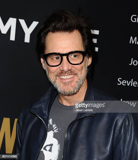 Actor Jim Carrey attends the Showtime Emmy eve party at Sunset Tower on September 17 2016 in West Hollywood California