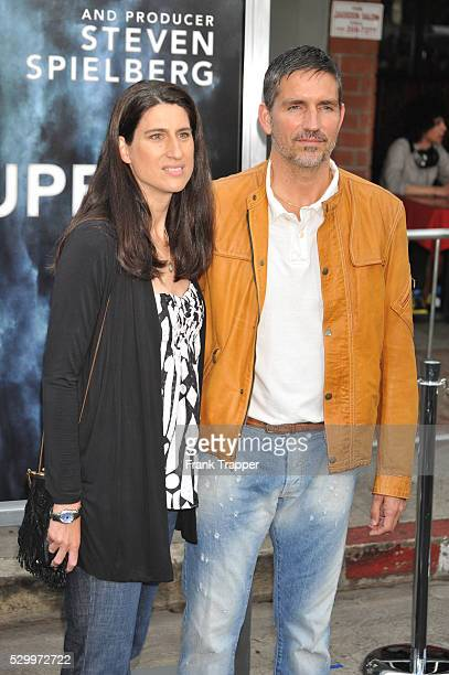 Actor Jim Caviezal and wife Kerri Browitt arrive at the Premiere of Paramount Pictures' 'Super 8' held at the Regency Village Theater in Westwood