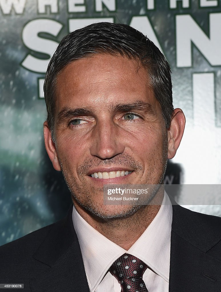 Actor Jim Caviezel arrives at the premire of Tri Star Pictures' ' When The Game Stands Tall' at the ArcLight Cinemas on August 4, 2014 in Hollywood, California.