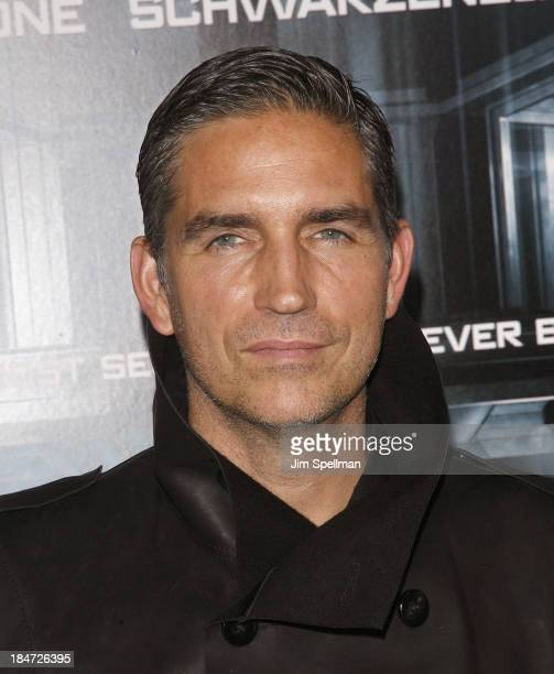 Actor Jim Caviezel attends 'Escape Plan' New York Premiere at Regal EWalk on October 15 2013 in New York City